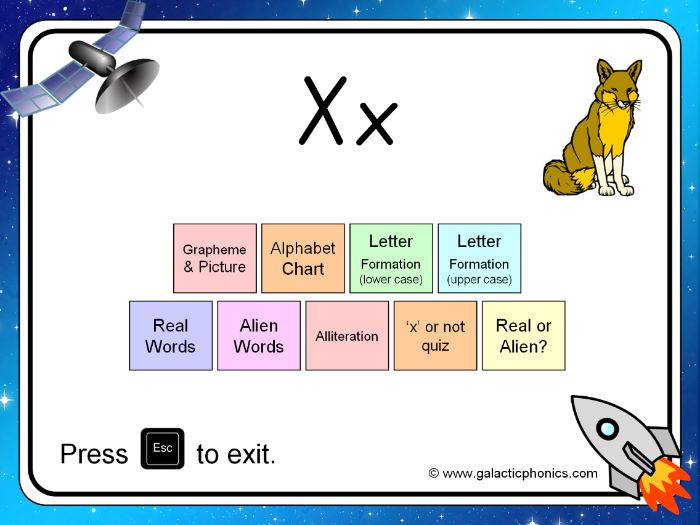 The letter 'x' PowerPoint (Phase 3)