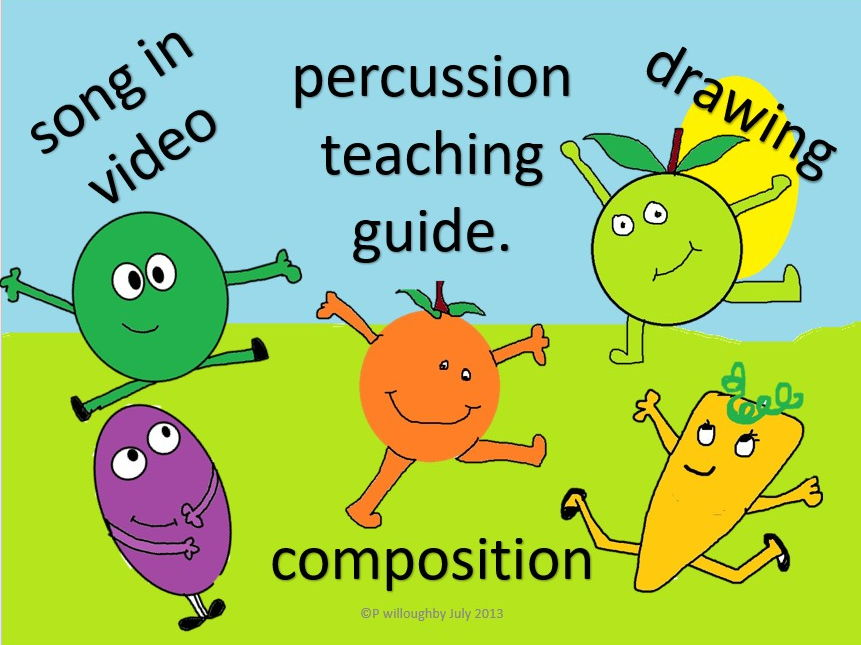 A song and percussion. Give me five. Healthy eating. Video. PPT. worksheets. Mp3s