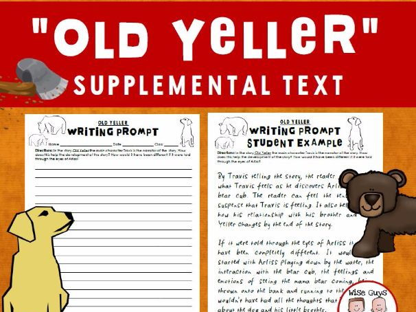 Old Yeller Writing Prompt Activity