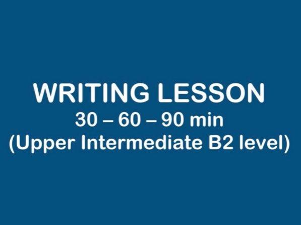 ESL Lesson - WRITING B2