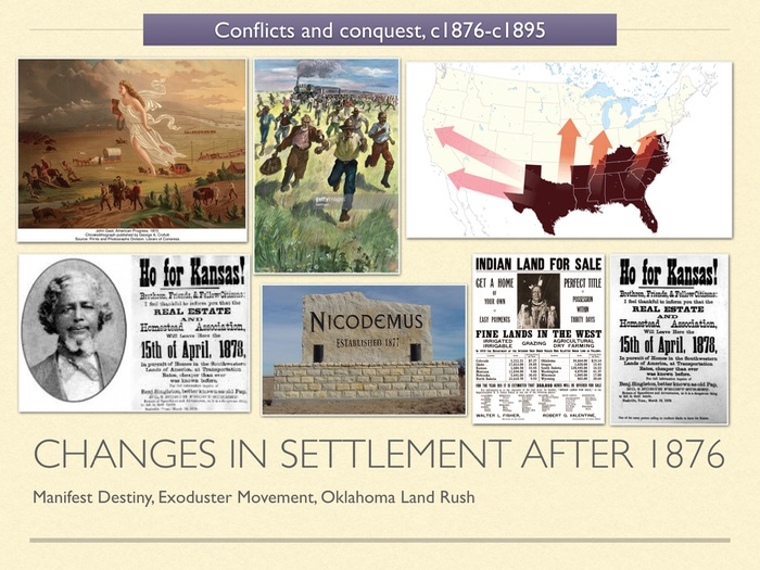 GCSE History of American West in 19c Unit 3 Changes to settlement after 1876
