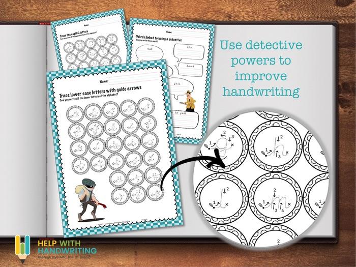 Detective Handwriting Worksheets