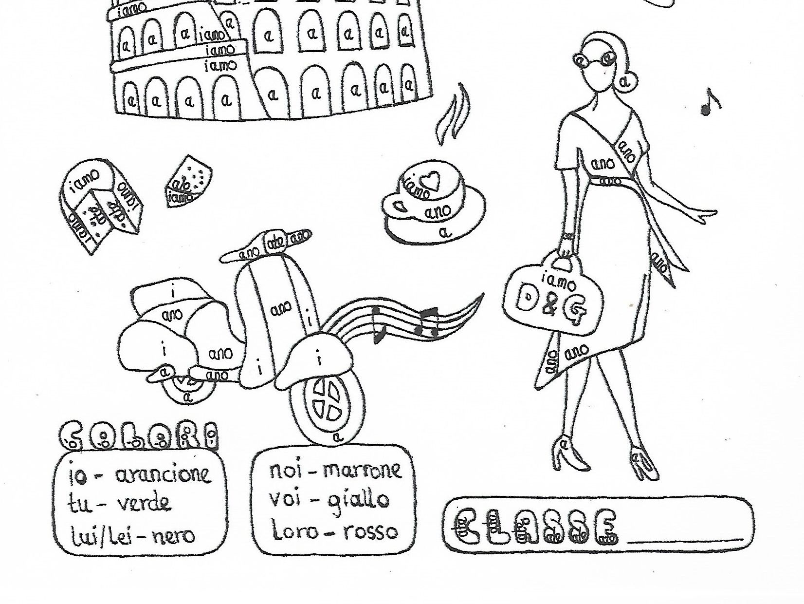 Italian are-verb conjugation bundle 2 fun no prep worksheets