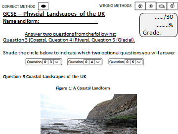 End of Unit Assessment- Physical Landscapes in the UK AQA 9-1: Coasts, Rivers and Glaciers
