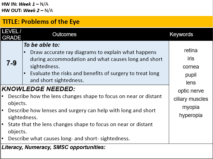 B10.6 Problems of the Eye