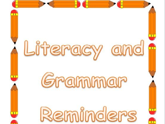 SpAG: Literacy and Grammar Reminders Booklet