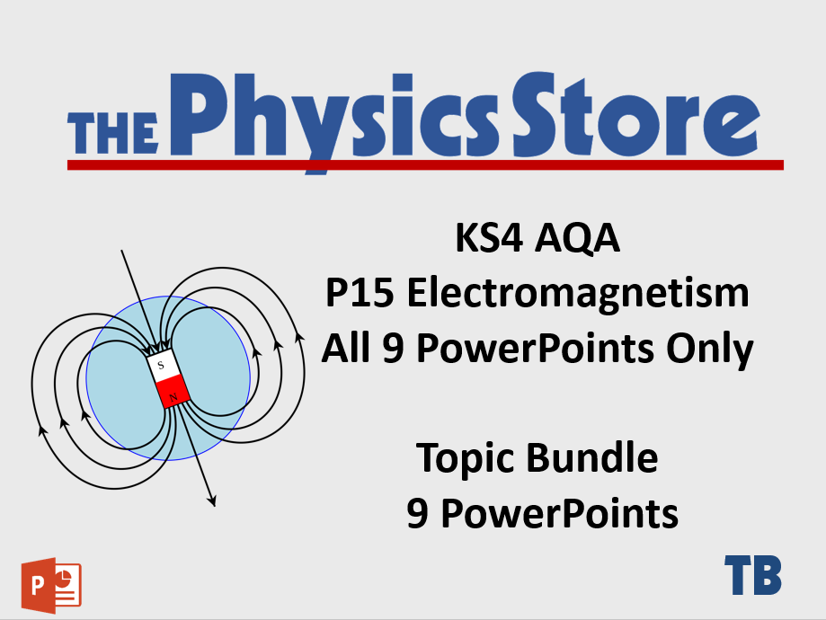 KS4 Physics AQA P15 Electromagnetism Topic - 9 PowerPoints Only Bundle