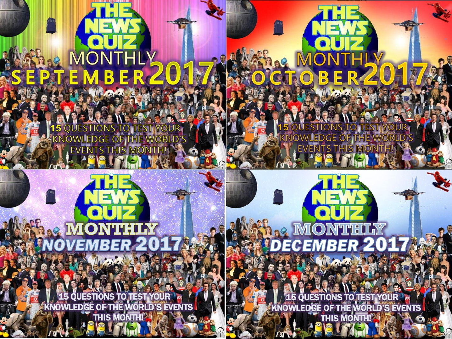 4 x The News Quiz Monthly 2017 Form Tutor End of Term Quiz Activity