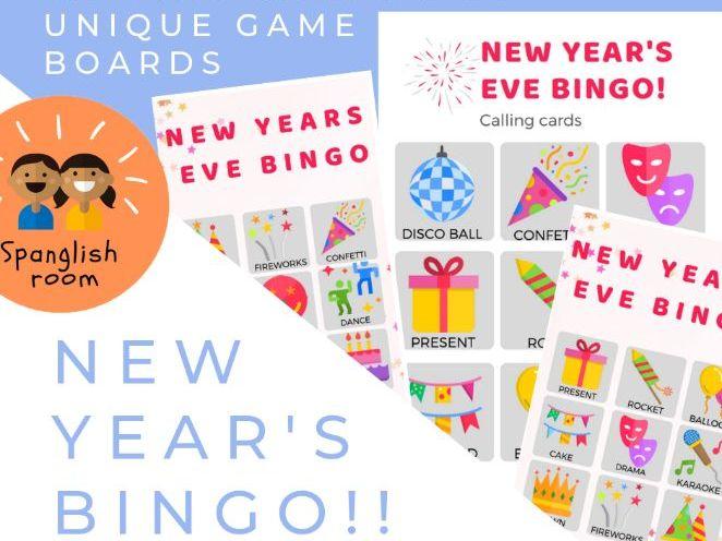 New year's Eve bingo / Bingo de fin de año