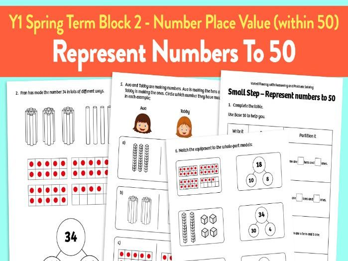 Represent Numbers to 50 activities: Y1 Spring Term, Block 2 – Number: Place Value (within 50)