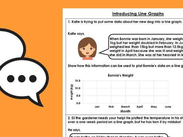 Year 4 Introduce Line Graphs Summer Block 4 Maths Discussion Problems