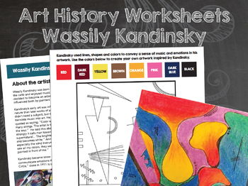Wassily Kandinsky Art History and Activities Worksheets
