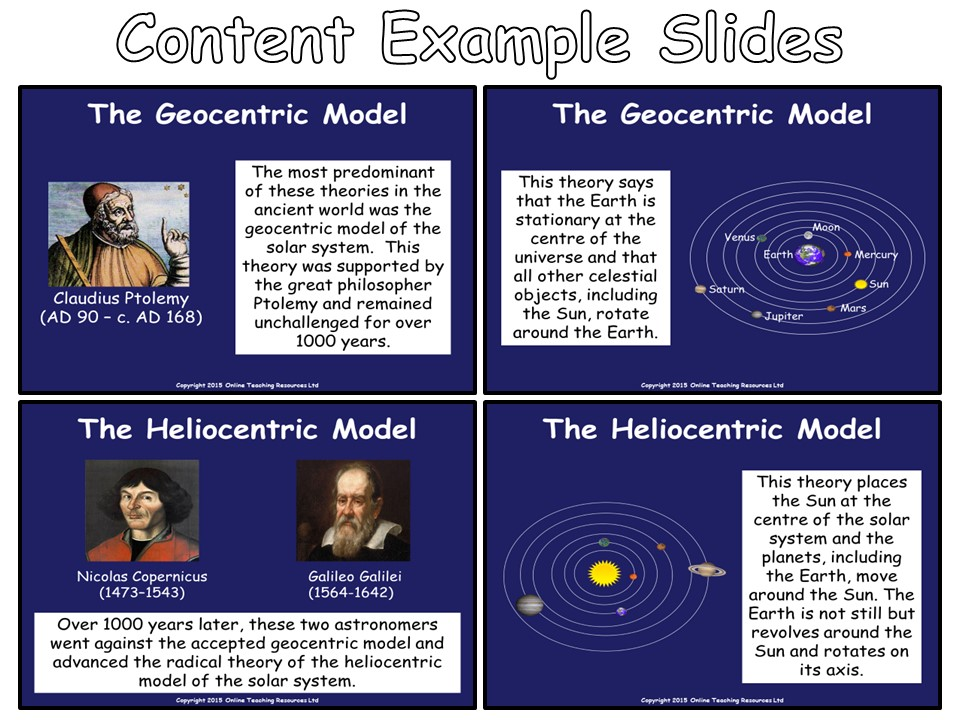 Models of the Solar System - PowerPoint Presentation and Worksheet
