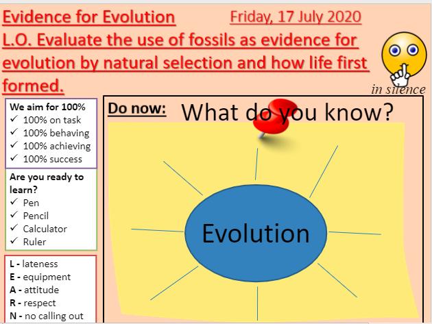 AQA B15.5 Evidence for evolution