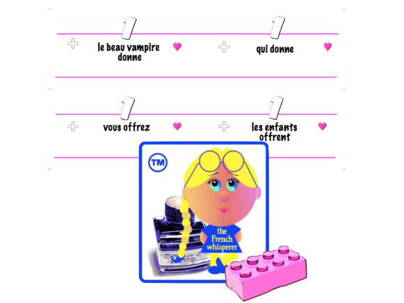 Language Lego™ (French sentence-building blocks)