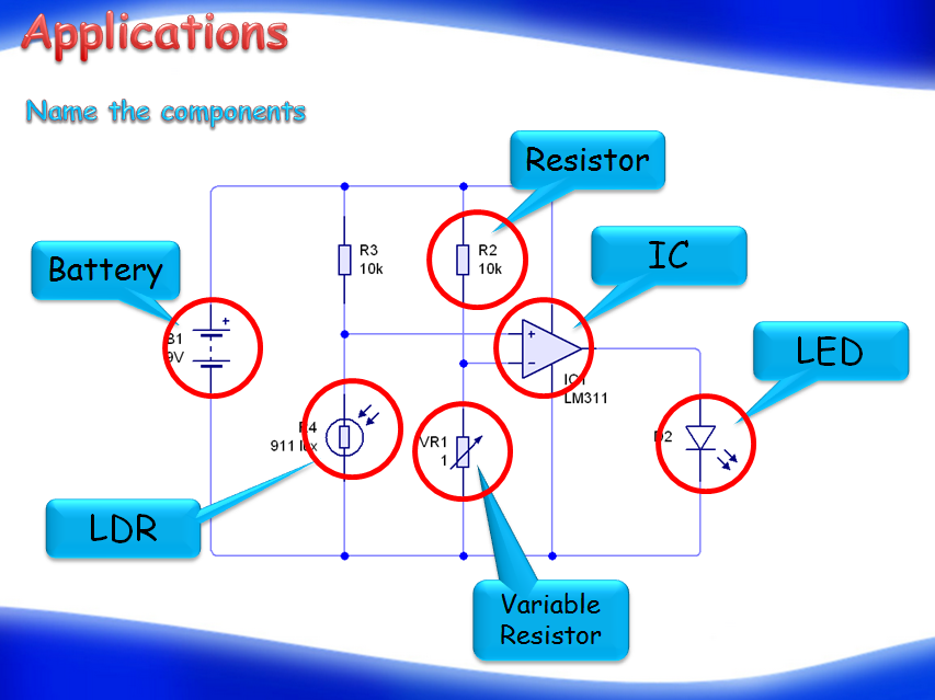 Electronic components (Physics)