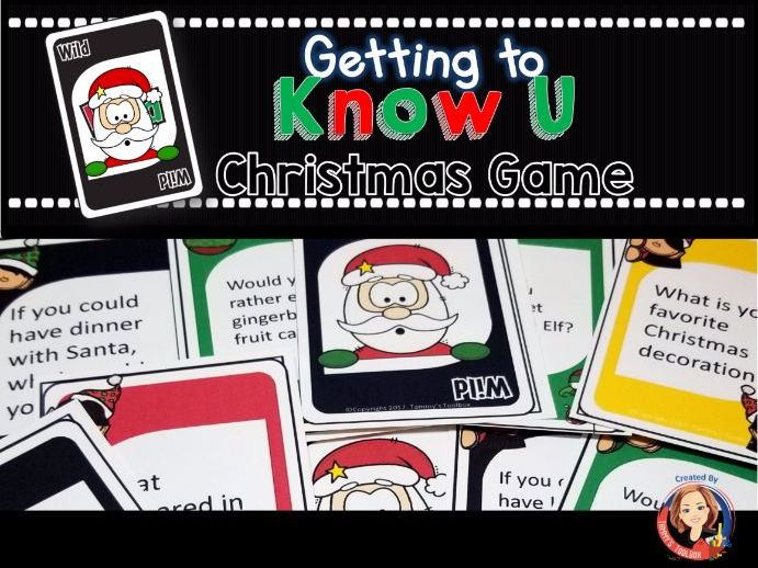 Christmas Getting to Know You Card Game