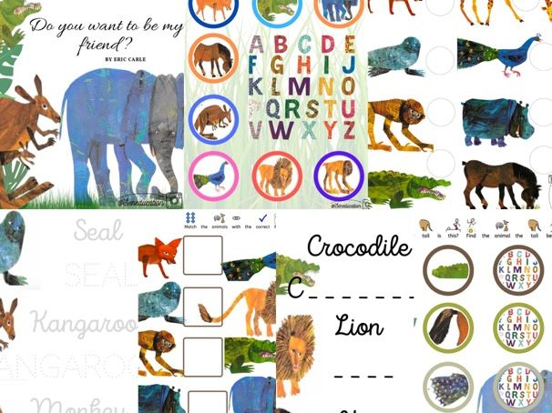 """""""Do you want to be my friend?"""" By Eric Carle- Activities after reading- special needs education"""