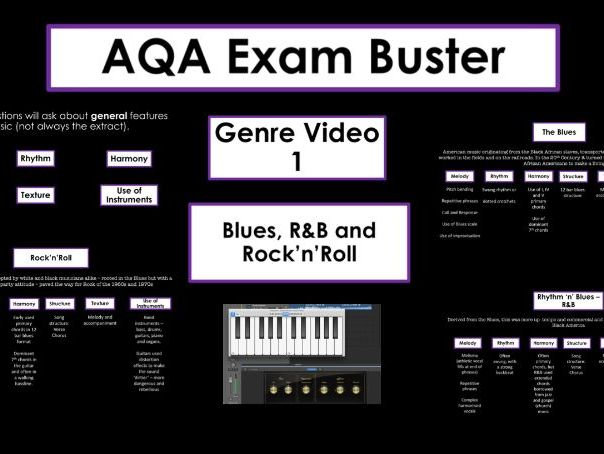 AQA Music Exam Buster - Genre Questions Video 1 - Blues, R&B, Rock'n'Roll