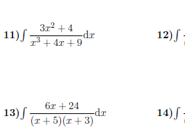Integration using logarithms worksheet (with solutions)