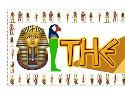 The Egyptians Banner over 3 A4 Pages Poster