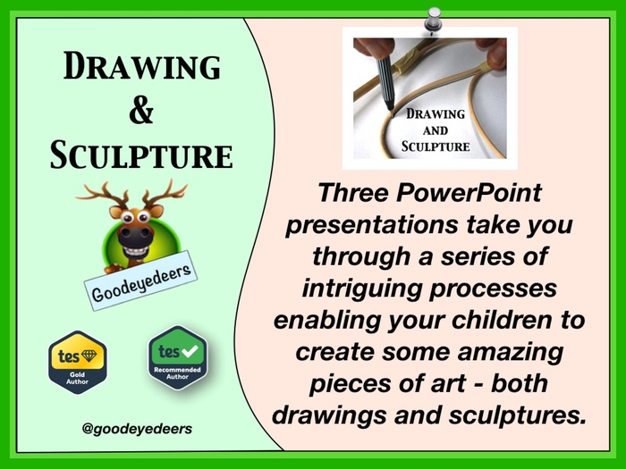 STEAM Project - Three Drawing and Sculpture PowerPoint Lessons