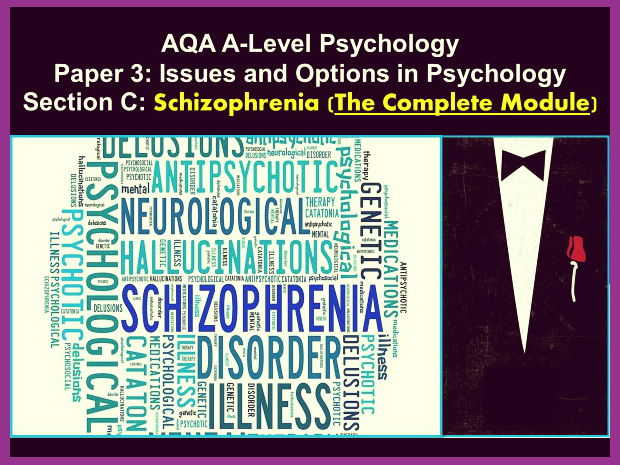 AQA A-Level Psychology: Year 2- Section C- SCHIZOPHRENIA (The Whole Module)