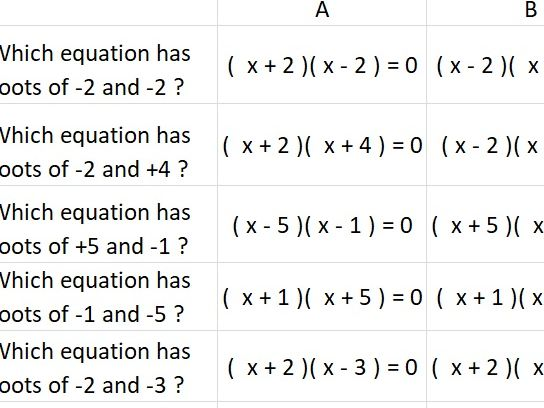 Practice Solving Graphical Simultaneous Equations and Roots Interactive Spreadsheet