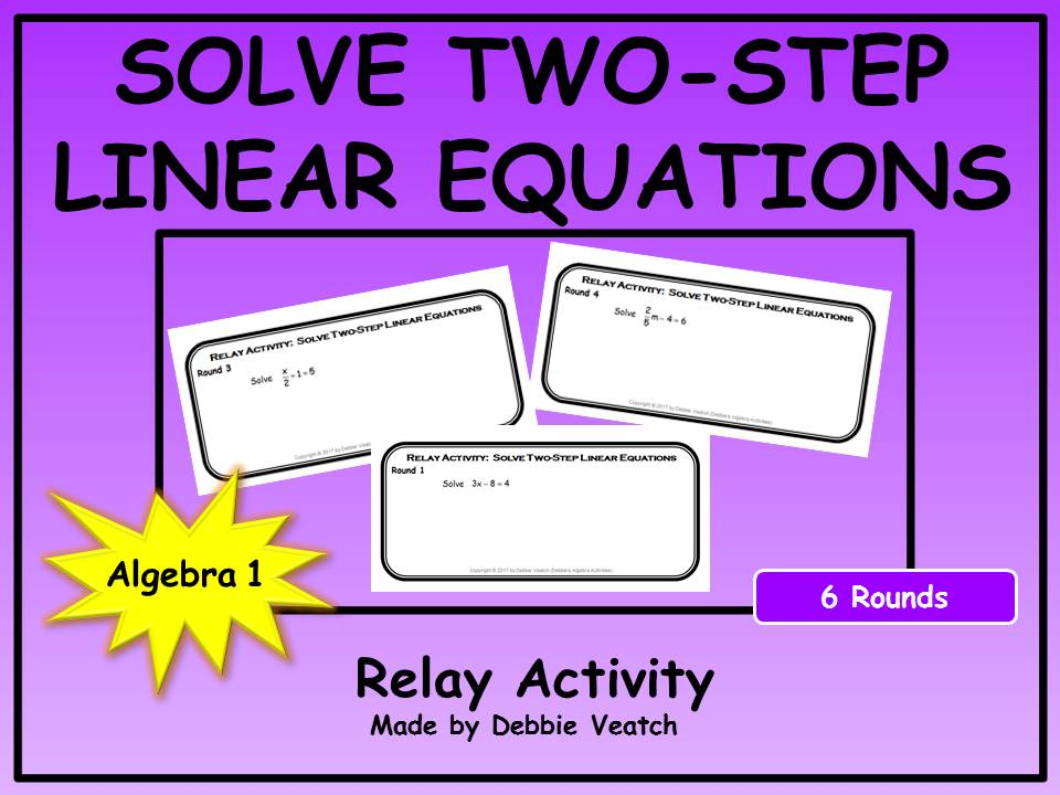Solve Two-Step Linear Equations Relay Activity