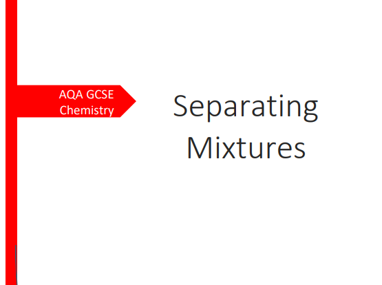 AQA GCSE Chemistry Separating Mixtures Revision Booklet