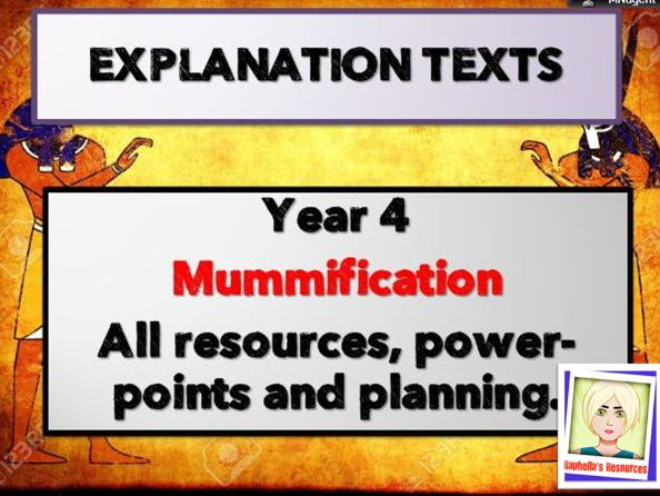 Year 4 EXPLANATION TEXTS - Linked to Ancient Egypt