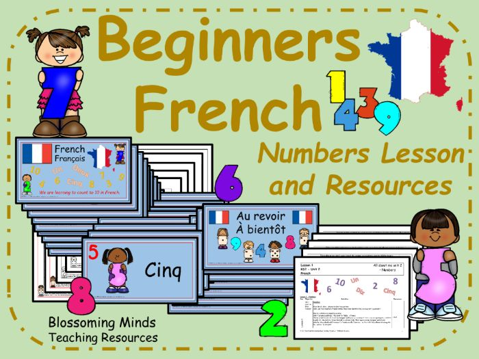 French lesson and resources : Numbers to 10