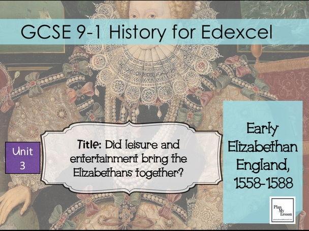 Edexcel GCSE Elizabethan England: L14 Did leisure and entertainment bring the Elizabethans together?