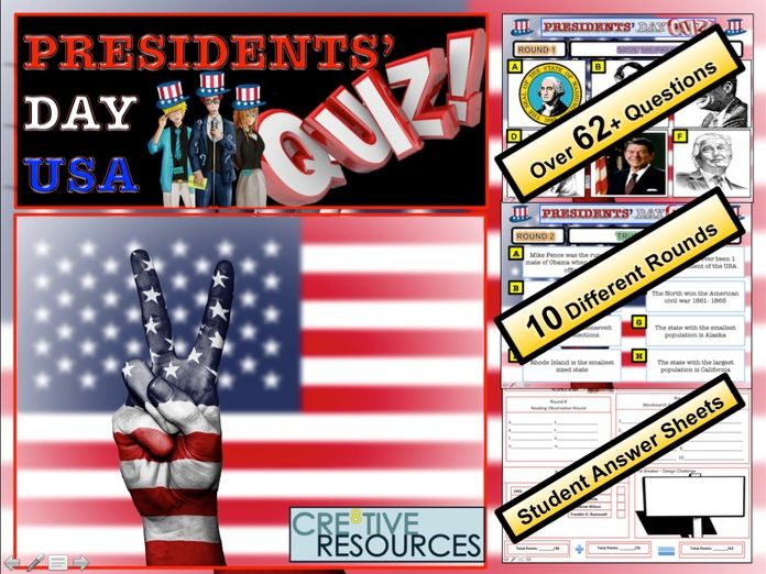 President's Day USA Quiz