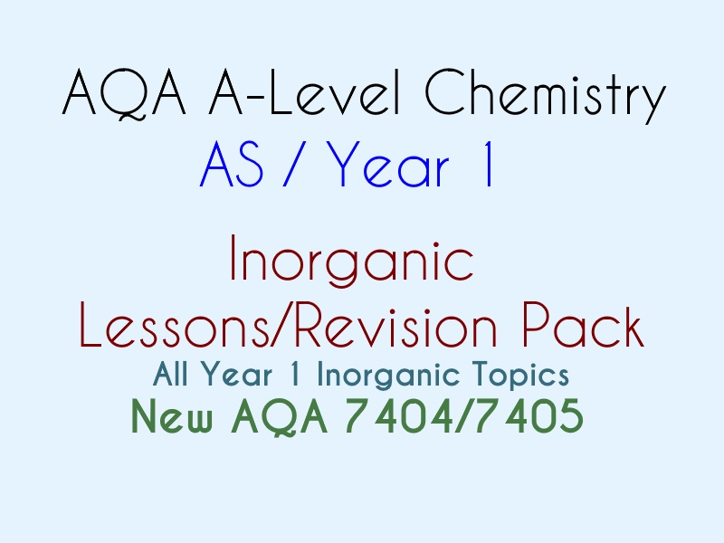 AQA AS Inorganic Chemistry BUNDLE