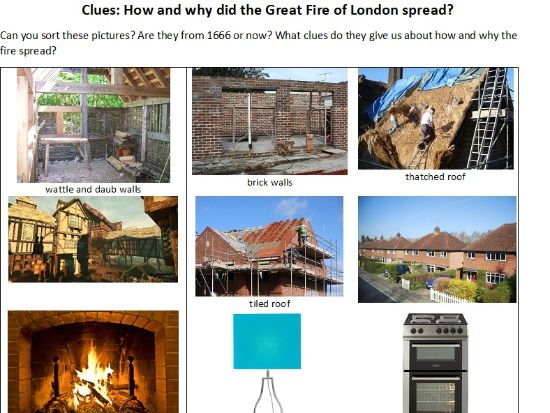 images of materials and clues to why Great Fire of London spread