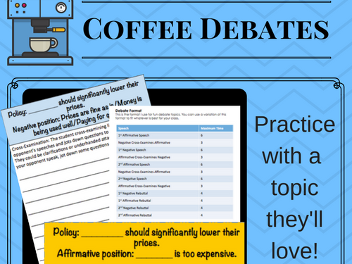 Coffee Debate Activity - Policy