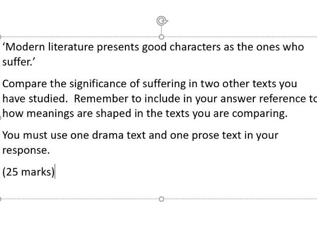 Exam Questions for A Level English Literature 7711/7712 AQA Paper 2B