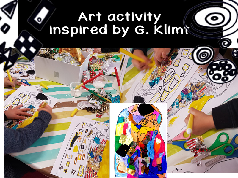 Art activity inspired by Klint, patterns and mixed media