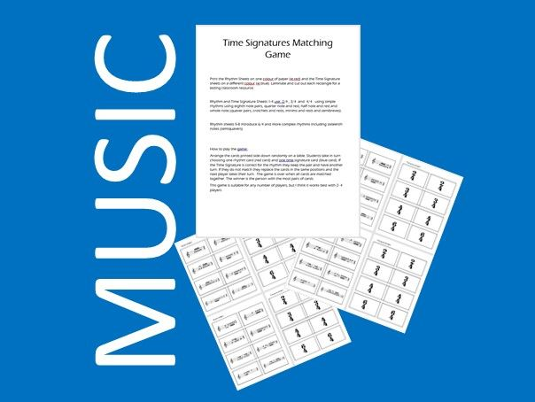 Music Time Signature Matching Game