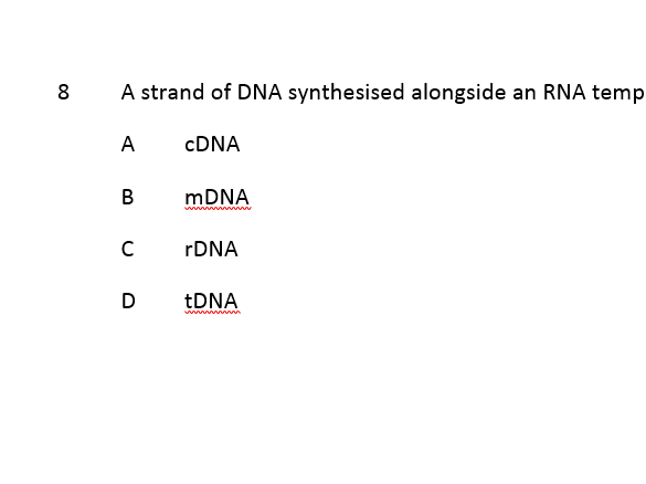 Gene Technology Multiple Choice Questions with ANSWERS