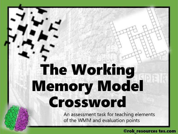 Memory Crossword 4 - worksheet