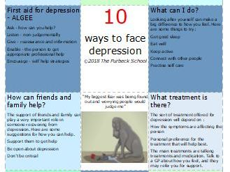 10 ways to... Mental Health and wellbeing information, advice and guidance double sided A5 flyers