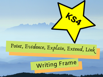 GCSE English Writing Frame (PEEEL)