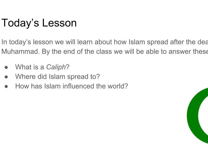 Islam - The Spread of Islam