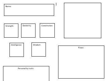 Characteristics D&D Sheet