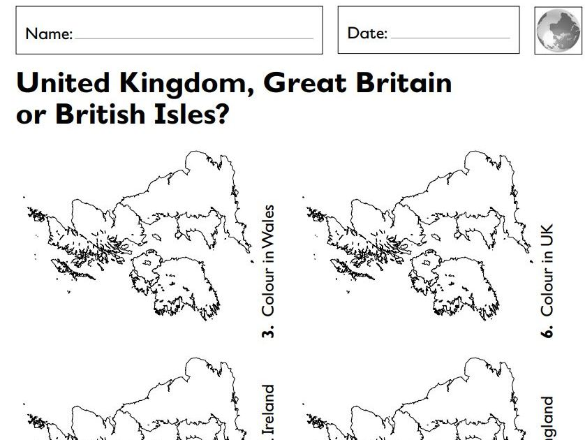 Year 1/2 (KS1)- Geography- The Geography of the United Kingdom lesson
