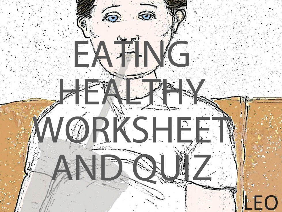 Healthy relationship, eating healthy and caffeine quizzes and worksheets bundle