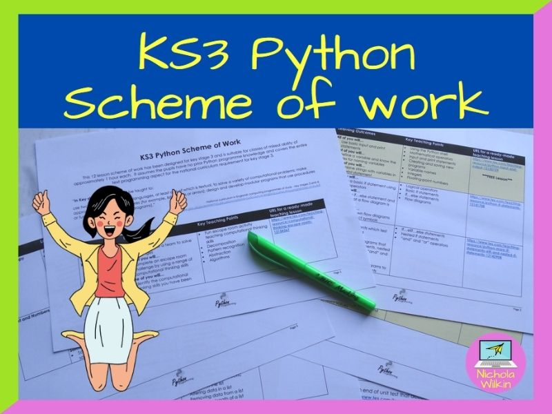 KS3 Python SoW outline