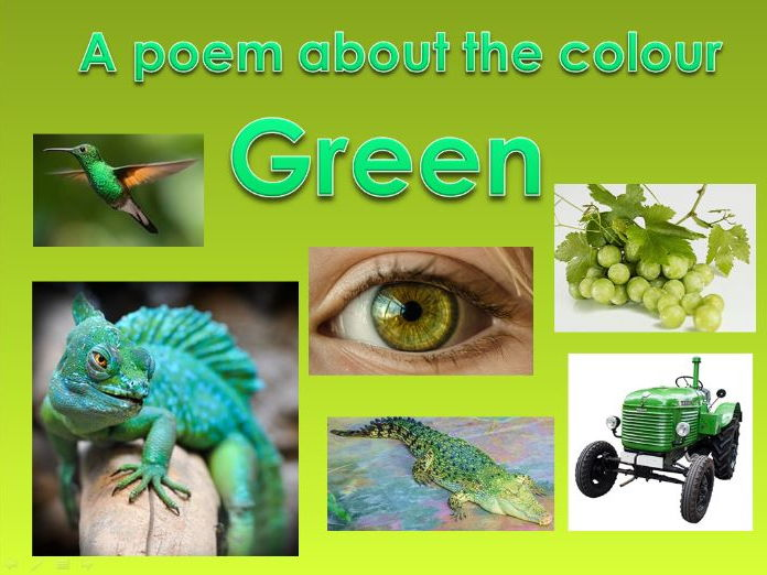 Powerpoint Poem about the colour GREEN. EYFS/KS1.